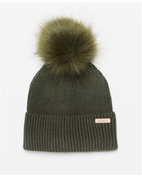 Barbour Mallory Pom Beanie - Green