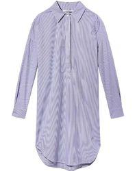Maison Scotch Loose Tunic Summer Shirt Dress - Multicolor
