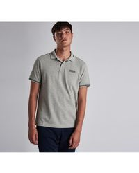 Barbour Essential Ti Polo Shirt - Grey