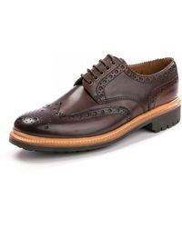 Grenson Archie Handpainted Dark Brown Brogue