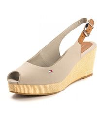 Tommy Hilfiger Womens Iconic Elba Sling Ba Sandals - Multicolour