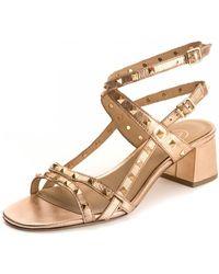 Ash Iman Goat Metal Heeled Sandals - Multicolour