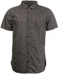 BOSS by Hugo Boss Magneton Slim Fit Short Sleeve Button-up Sport Shirt - Black