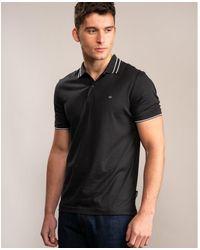 Calvin Klein Soft Interlock Tipping Polo - Black