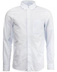 Calvin Klein Button Down Oxford Shirt - Blue
