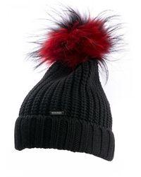 Woolrich Bicol Pon Pon Serenity Hat - Black