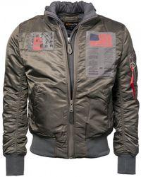 Alpha Industries - Mens Ma-1 D-tec Blood Chit Jacket - Lyst
