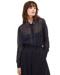 Great Plains Highland Embroidery Shirt - Blue