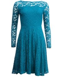 LILY & ME Edgeworth Embroidered Lace Dress - Blue