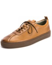 Grenson Trainer 1 Vegan Tan Shoes - Brown