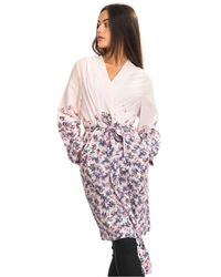 Joules Arielle Womens Woven Dressing Gown A/w - Pink
