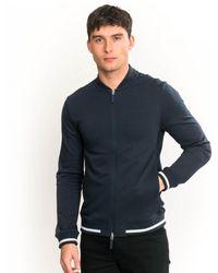 Armani Exchange Zip Through Sweatshirt - Blue