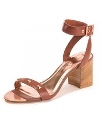 Ted Baker Studded Bow Detail Sandal - Brown