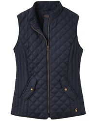 Joules Minx Womens Quilted Gilet A/w - Blue