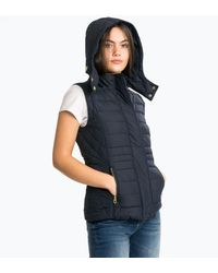 Joules Padston Womens Padded Quilted Gilet - Blue