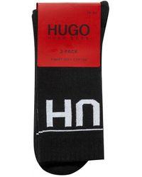 BOSS by Hugo Boss Two Pack Reverse Logo Socks - Black