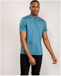 Ted Baker Ss Polo - Blue