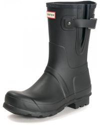 HUNTER Original Side Adjustable Short Boots - Black