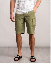 Calvin Klein Garment Dyed Cargo Shorts - Green
