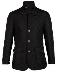 Barbour Quilted Lutz Mens Jacket - Black