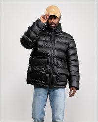 HUNTER Rubberised Puffer Jacket - Black