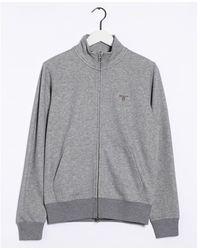 GANT Original Full Zip Cardigan - Grey