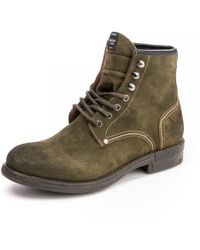 Replay Leather Mens Boots Gmc41 .003. - Brown
