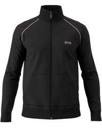 BOSS by Hugo Boss Mix&match Regular Fit Loungewear Jacket - Black
