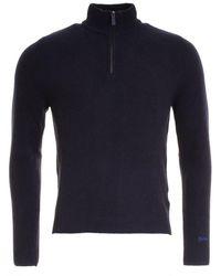 Woolrich | Supergeelong Half Zip Mens Sweater | Lyst
