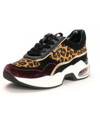 Karl Lagerfeld Footwear Ventura Lazare Leopard Mix Tainers - Multicolour