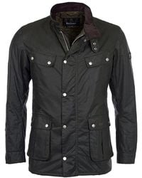 Barbour Duke Wax Mens Jacket - Black