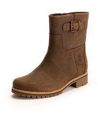 Timberland Main Hill Wp Biker Boot - Brown