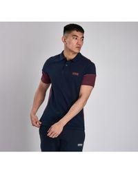 Barbour Block Mens Polo Shirt - Blue