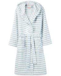 Joules Rita Womens Fluffy Dressing Gown A/w - Blue
