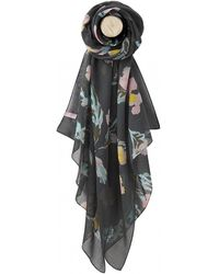 Joules Wensley Womens Printed Scarf S/s - Black