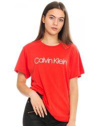 Calvin Klein Logo Print - Red