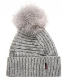 Woolrich Soft Wool Beanie Hat - Grey