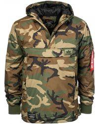 Alpha Industries Mens Wp Anorak Jacket - Green
