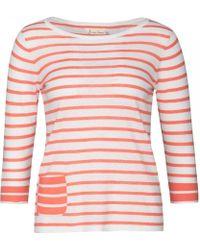 65df90d1d632cd Lyst - Old Navy Relaxed Linen-blend Cold-shoulder Top in Pink