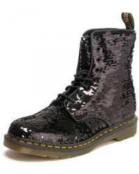 Dr. Martens - 8 Eye Boot 1460 Pascal Reversible Womens Sequin Boot - Lyst