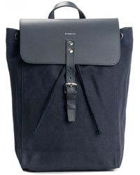 Sandqvist Alva Navy With Navy Leather - Blue