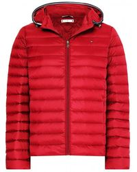 Tommy Hilfiger Th Essential Light Weight Down Jacket - Red