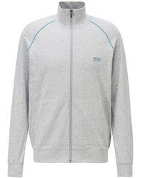 BOSS by Hugo Boss Mix&match Regular Fit Loungewear Jacket - Grey