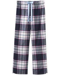 Joules - Fleur Checked Flannel Pyjama Bottoms - Lyst