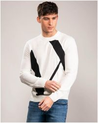 Armani Exchange Knit Pullover - White