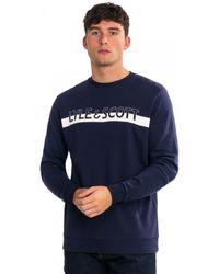 Lyle & Scott Logo Crew Neck Sweatshirt - Blue