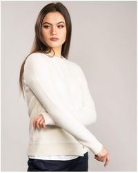 Ted Baker Kenala Textured Stitch Jumper - White
