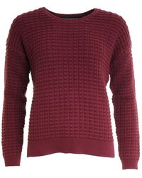 French Connection Mozart Popcorn Cotton Jumper - Red