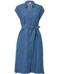 White Stuff Goa Midi Shirt Womens Dress - Blue