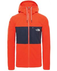 The North Face Blocked Full Zip Mens Jacket Hd - Red